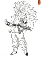 DBS Goku ssj3  by bloodsplach