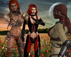 Bloody Red Hairs by Bahlinka