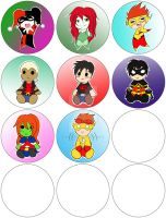 Preview for Connichiwa Buttons by Catgirlemi7