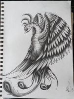 Pheonix Tattoo Design by scribilitary