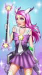 Rayne the Star Guardian Warlock by velladonna
