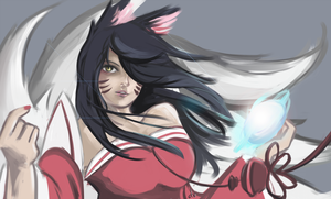 Ahri~ by dvDraws
