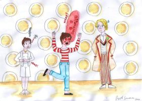 Me, the Fifth Doctor and Tegan by StregattaPuponzi