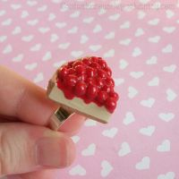 Cherry Cheesecake Ring by CantankerousCupcake
