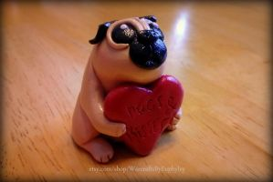 Fat Little Love Pug - Pugs and Kisses by Euphyley