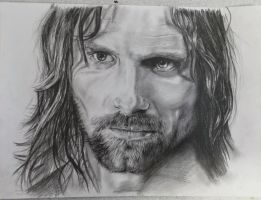Aragorn Pencil by aaronbakerart