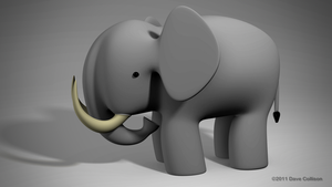 Simple Elephant by TheBigDaveC