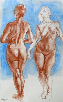 figure study, conte by roy-p