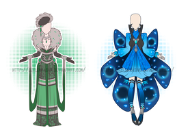...Emerald and Sapphire...Outfit Adopts // CLOSED by Seelenbasar