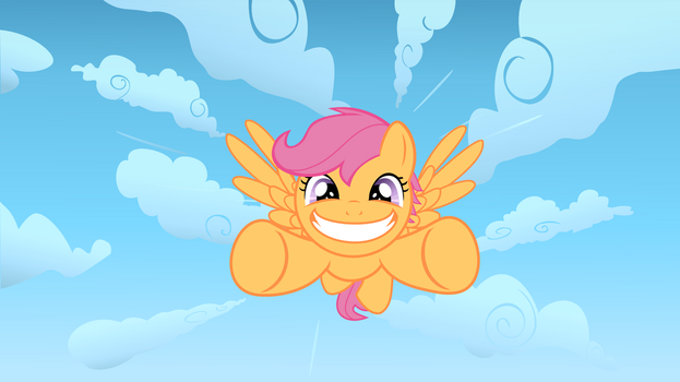 Scootaloo soaring by Serendipony