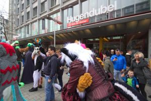 Fursuitwalk Hannover 5.4.2014 Part 14 Germany. by ASKABANIUM