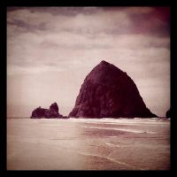 Haystack Rock by superbill22