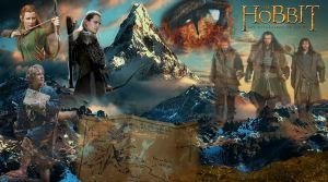 The Lonely Mountain - The Desolation of Smaug Wall by ponyhallo1