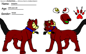 Sanguine reference sheet by Me-MowTheCat