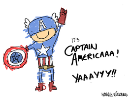 CAPTAIN AMERICAAAAAAA by WizzKid97