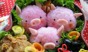 Pigs Japanese Bento by isiab