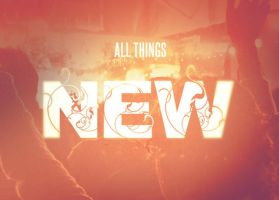 All Things New Church Postcard Template by loswl