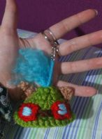 Teemo hat keychain commission by Ayinai