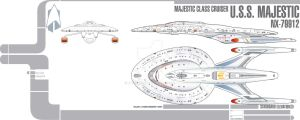 Majestic Class Starship Ver 3 by Galen82