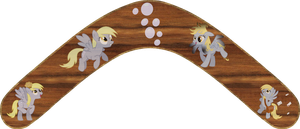 Derpy Hooves Boomerang by Out-Buck-Pony