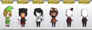 Creepypasta's - Chibi Maker by Howlinghill