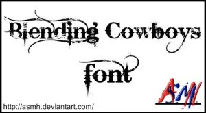 Blending Cowboys Font by ASMH