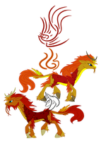 Kirin Clans: Phoenix, Clan of Fire by ZenAquariaPony