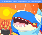 C-Scarf Kyogre used Water Spout in a Desolate Land by Karasu-96
