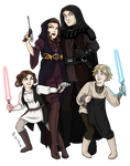 Skywalker Family Redesign by msciuto