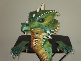 Re-Re-Painted Dragon Mask with Gloves by MarisSonantis