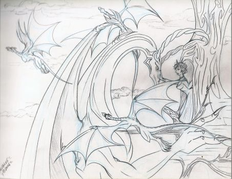Unica and The Dragons by dracodawnstar