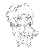 Chibi Shinto Priestess Lines by InLoveWithYaoi