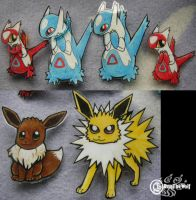 Pokemon Brooches-Paperchild by RonTheWolf