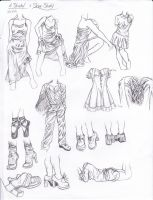 Fold And Shoe Study by Tsuki-Nii