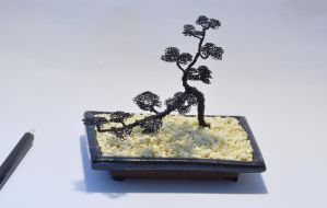 Wire tree sculpture cascade bonsai by minskis