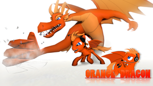 Orange Dragon by Dragon-V0942