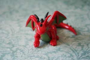 Red and green dragon by redninjacreations