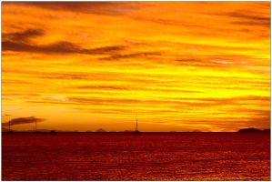 Sunset from Brampton Island 3 by wildplaces