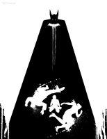 B/W Batman year one by artist Tom Kelly by TomKellyART