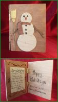 Holiday Card Project: Wooden Snowman by xofox