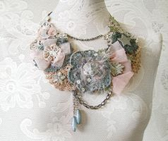 Fabric Statement Necklace by patriciabrennan
