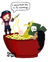 DA ID Christi and Jackie find ramen by the-PirateNinja