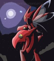 Pokemon:  Nocturne Scizor by Musetrigger