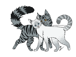 Bumblestripe and Ivypool by IvystarOfSkyClan