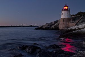 Castle Hill Lighthouse Twilight by pewter2k