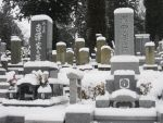 Snow Covered Graves by JeanneABeck