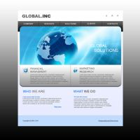 White business web template by Player-Designer