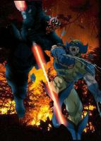 Darth Maul vs. Wolverine by TheMcEvilOne