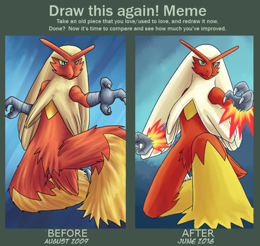 Before and after Fire Wing by yoshitaka