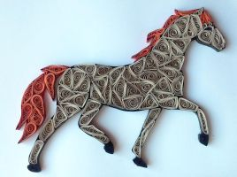 Quilling - Horse by Sszymon14